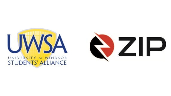 University of Winsor Students Alliance and Zip Dockless logos.